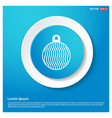 christmas ball icon abstract blue web sticker vector image vector image