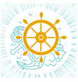 concept of sea cruise vector image vector image