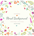 Cute floral background with flowers and herbs vector image vector image