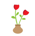 cute rose on a pot vector image