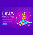 dna biometrics technology vector image vector image