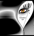 feather eye for exotic design vector image vector image