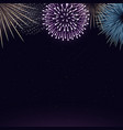 fireworks on night sky background realistic vector image vector image