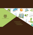 flat energy save composition vector image vector image