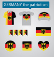 Germany the patriot set vector image