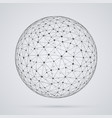global network sphere vector image vector image