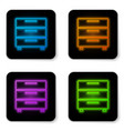 glowing neon furniture nightstand icon isolated vector image