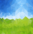green meadow blue sky polygonal triangular pattern vector image vector image