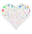 hammers fireworks heart vector image vector image