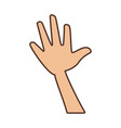 hand cartoon isolated vector image vector image