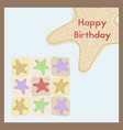happy birthday the birth greeting card is vector image