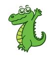 Happy crocodile for kids design vector image