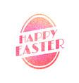 happy easter vintage festive label vector image