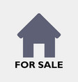 house icon for sale vector image