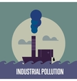 Industrial pollution Factory with smoke stack vector image vector image