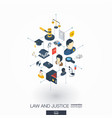 law and justice integrated 3d web icons digital vector image vector image