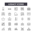 legacy line icons signs set outline vector image vector image