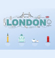 london sightseeing tour with landmark icons in vector image