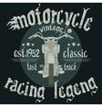 Motorcycle Racing Typography Graphics vector image vector image