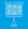 musical notes on stand icon outline style vector image vector image