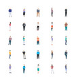 people character flat icon pack vector image vector image