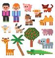 pixel character farm animal pixelart