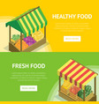 portable vendor booth with canopy vector image vector image