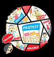 protest people crowd vector image
