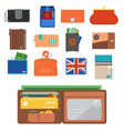 purse wallet money shopping buy business vector image vector image