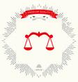 scales icon symbol vector image vector image