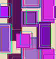 Seamless pattern of rectangles vector image vector image