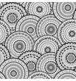 seamless pattern of round abstract mandala vector image vector image