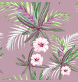 seamless pattern with exotic tropical plnts vector image vector image