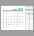 set identical planners 2019 january separately vector image vector image