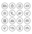 set round line icons army vector image