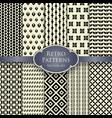 set various monochrome retro patterns vector image