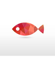Sign of Fish with Modern Texture vector image vector image