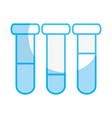 silhouette medical analysis tubes to biology vector image vector image