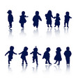 silhouettes - baby vector image vector image