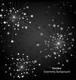 silver fireworks on dark background vector image