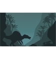 Single spinosaurus of silhouette vector image vector image