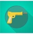 Sport air gun flat color icon vector image