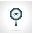 Spy flat color icon vector image