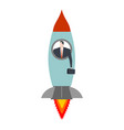 start up businessman in rocket office life vector image