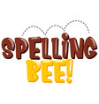 sticker design for word spelling bee in brown and vector image vector image