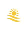 sun cloud icon - simple element summer concept vector image vector image