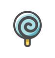 sweet glossy lollipop icon cartoon vector image