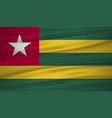 togo flag flag of togo blowig in the wind eps 10 vector image
