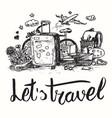 travel vintage sketch vector image vector image