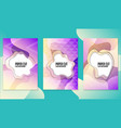 trendy poster set with dynamic colorful gradients vector image